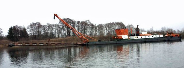 350 mm (14-inch) Plain Suction Dredger w/ Water Jet Cutter