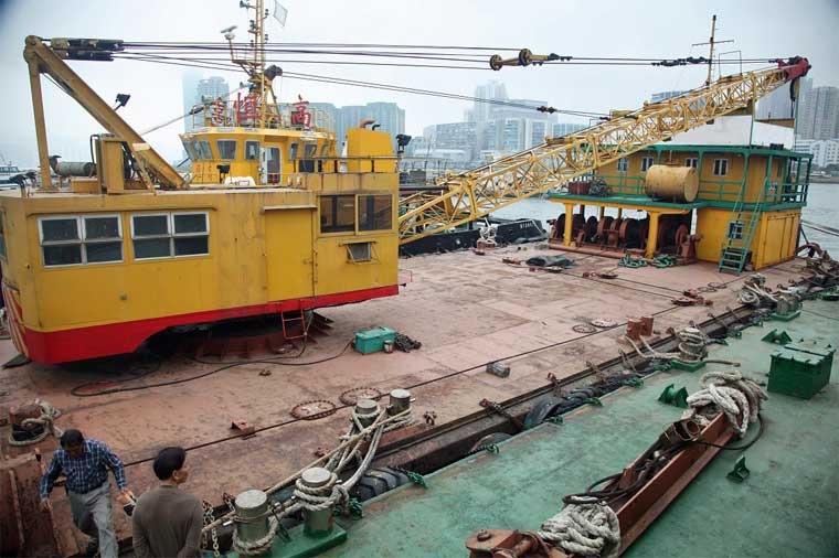 4 m3 Grab Bucket Dredger