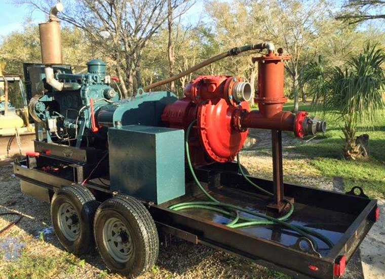 6-inch Booster Pump on Trailer (Rebuilt)