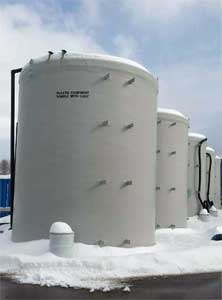 20,000 gallon Fiberglass Storage Tanks (used for Polymer)