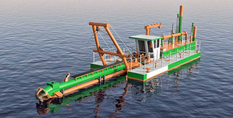 350 mm (14-inch) Cutter Suction Dredger NEW