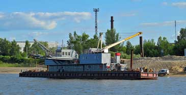 Sand Unloading and Transfer Barge