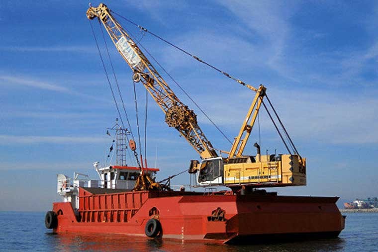 5.6 m3 Self-propelled Grab Bucket Dredger w/ hold